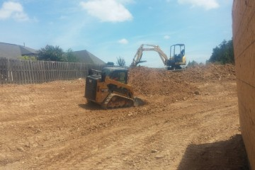 Grading around a newly constructed house
